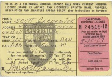 for Lifetime fishing license ca