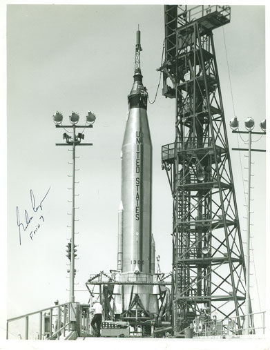 Faith 7 on Launch Pad