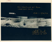 Vintage NASA Red Stamped Photo
