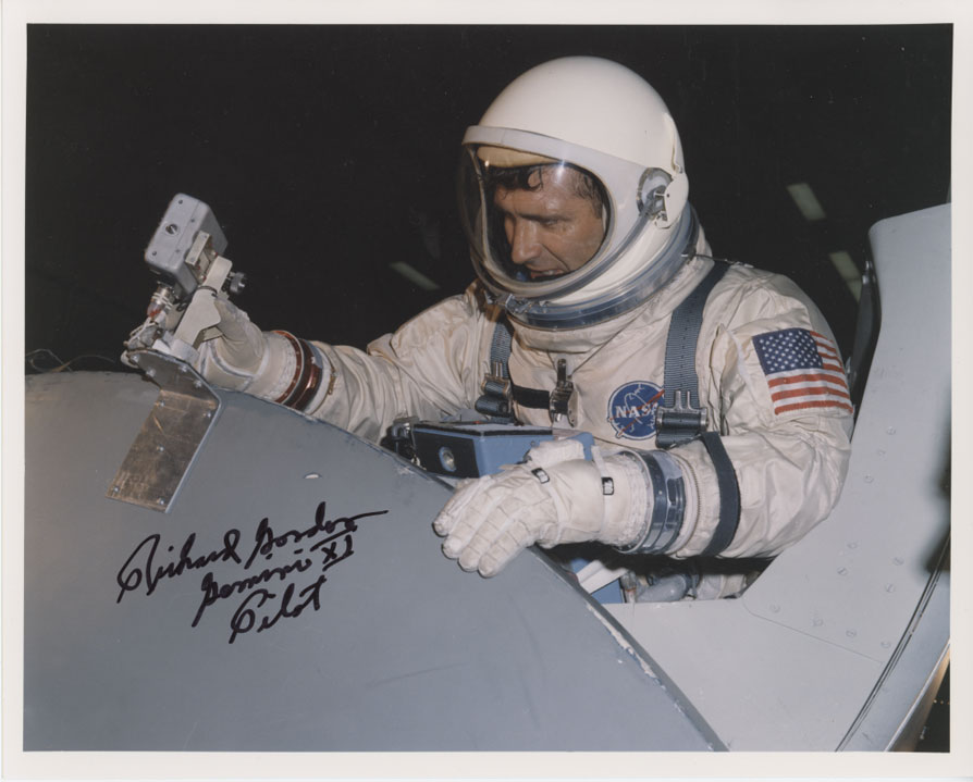 Apollo 12 NASA Astronaut Richard Gordon Signed Photo