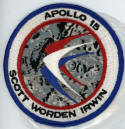 Al Worden flown to the moon mission patch